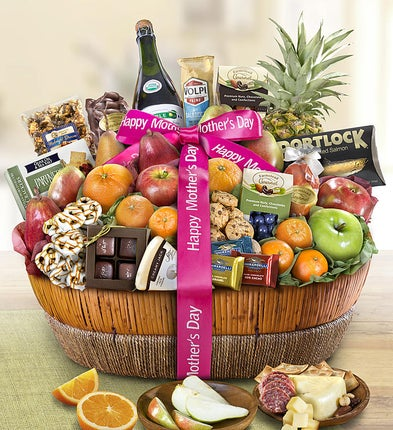 Mothers Day Grand Fruit & Sweets Gift Basket