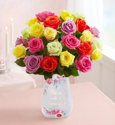 Two Dozen Assorted Roses for Mother's Day