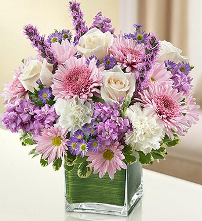 Elegant Lavender and White Cube