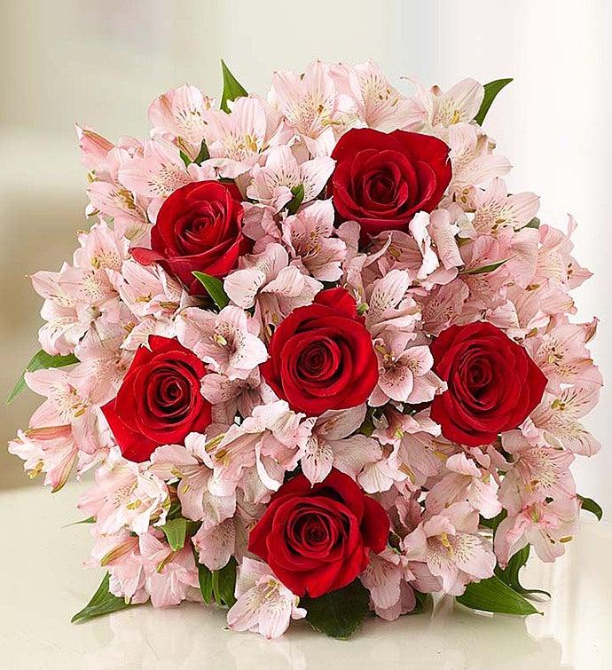 True Love Rose & Peruvian Lily Bouquet