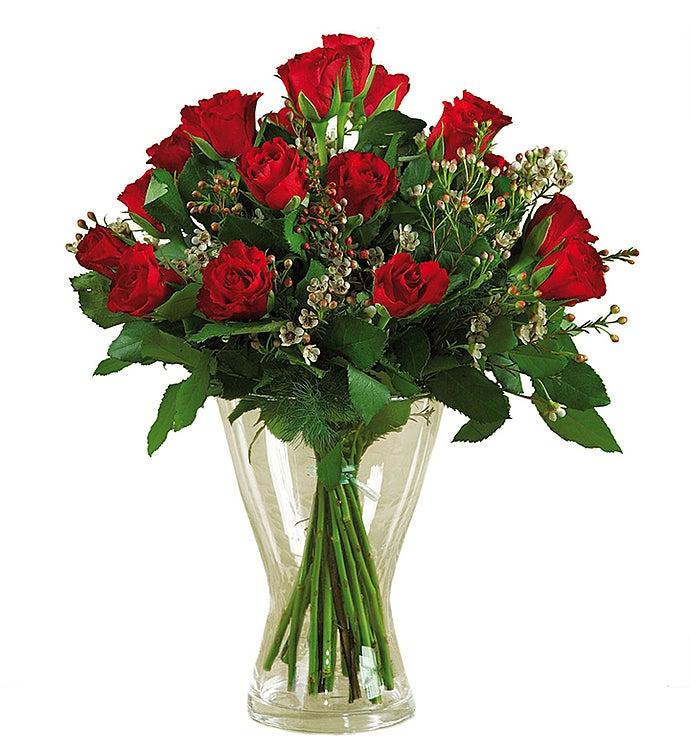 12 Red Long-Stem Roses