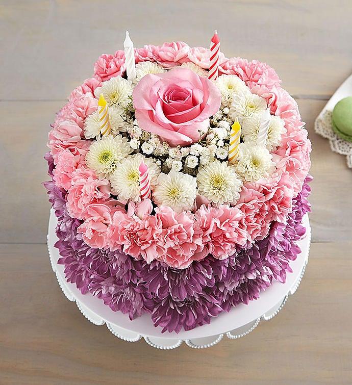 Birthday Wishes Flower CakeR Pastel