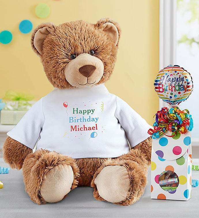 """Personalized Tommy Teddy™ """"Let's Celebrate!"""""""