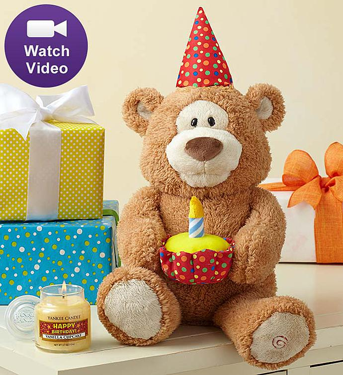 Happy Birthday Animated Bear by Gund®