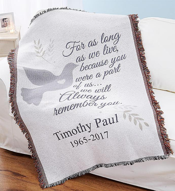 Personalized Sympathy Throw Blanket
