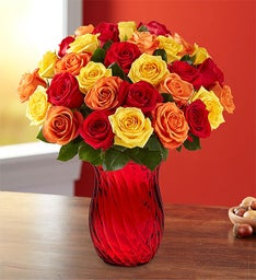 Assorted Fall Rose Bouquet