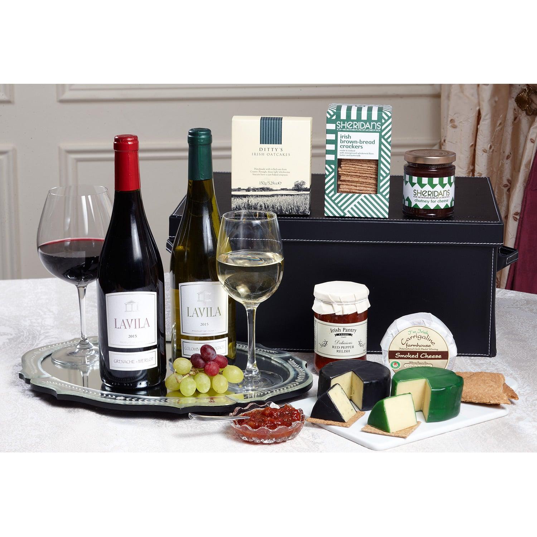 Deluxe Wine & Cheese Gift Box
