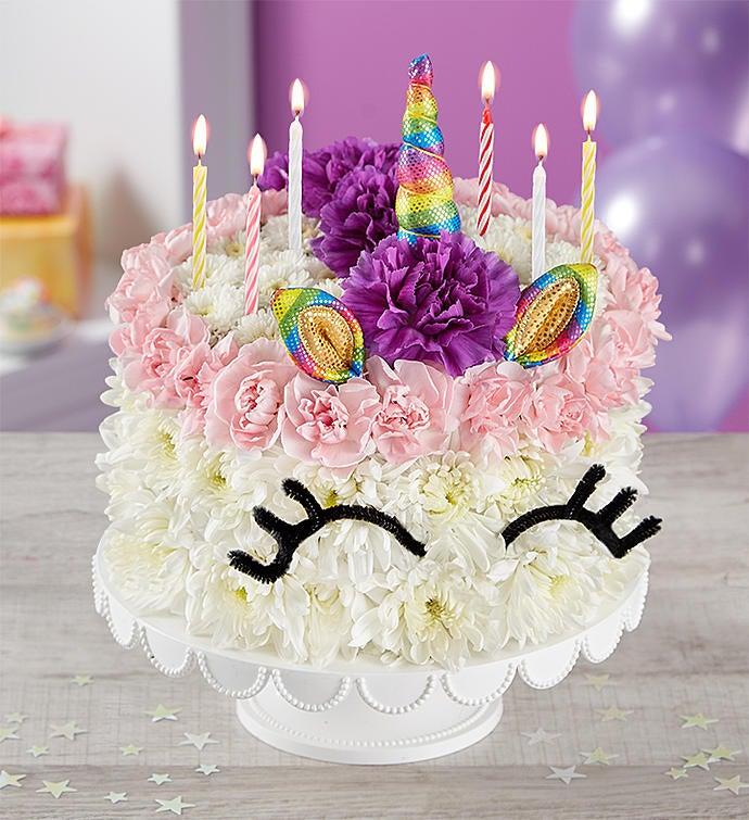 Birthday Wishes Flower CakeR Unicorn