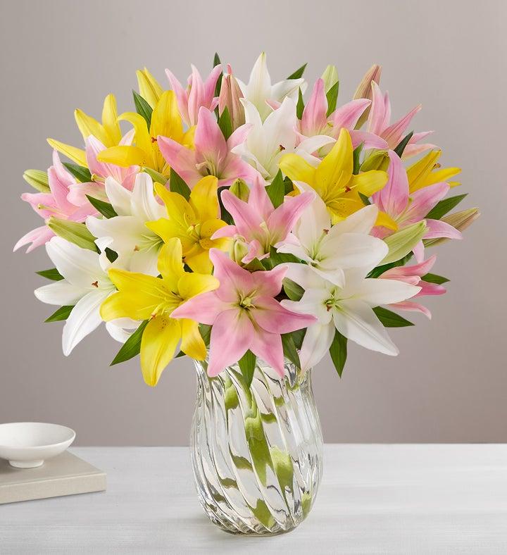 Sweet Spring Lilies + Free Vase