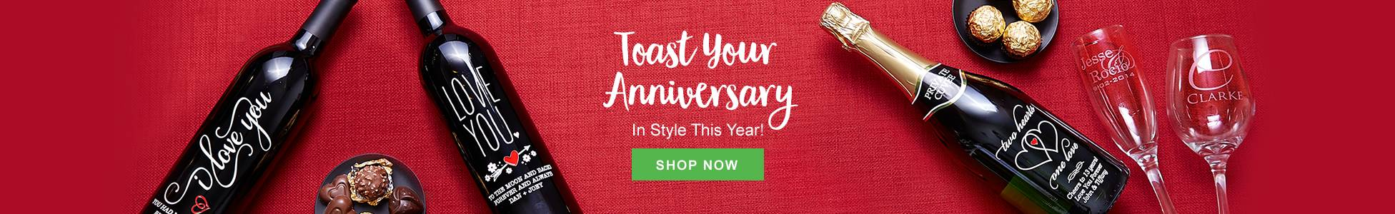 Toast your anniversary